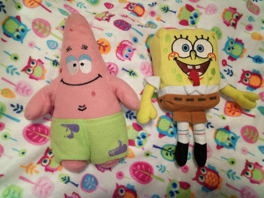 Boneka Spongebob dan Patrick set dadc7a21b5