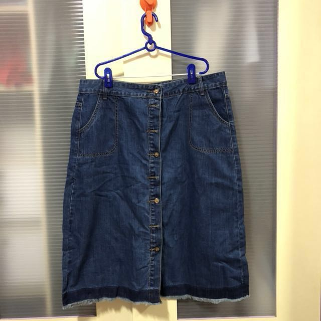 ccee9fe3bf262 Brand New Denim Midi Skirt (Plus Size)