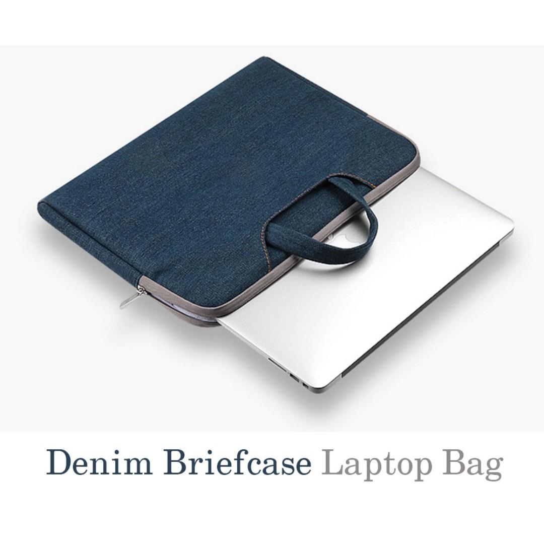 Briefcase Bag - Denim