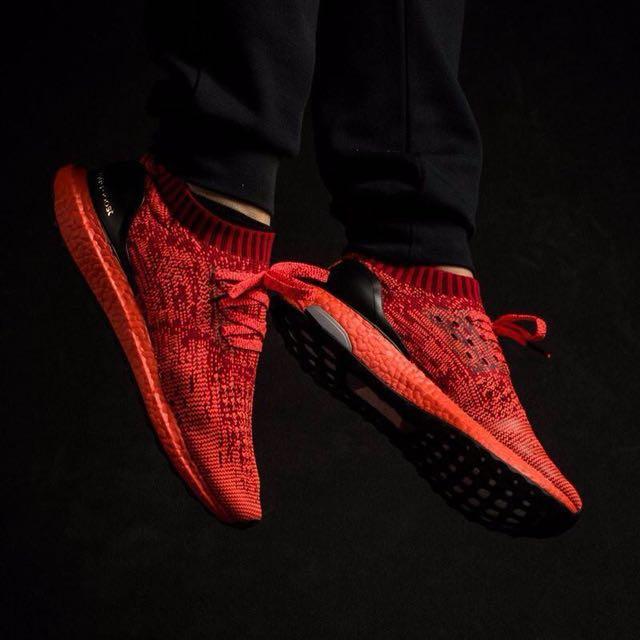 big sale 76637 4c57b BST022 Adidas Ultra Boost Uncaged LTD ScarletSolar Red, Mens