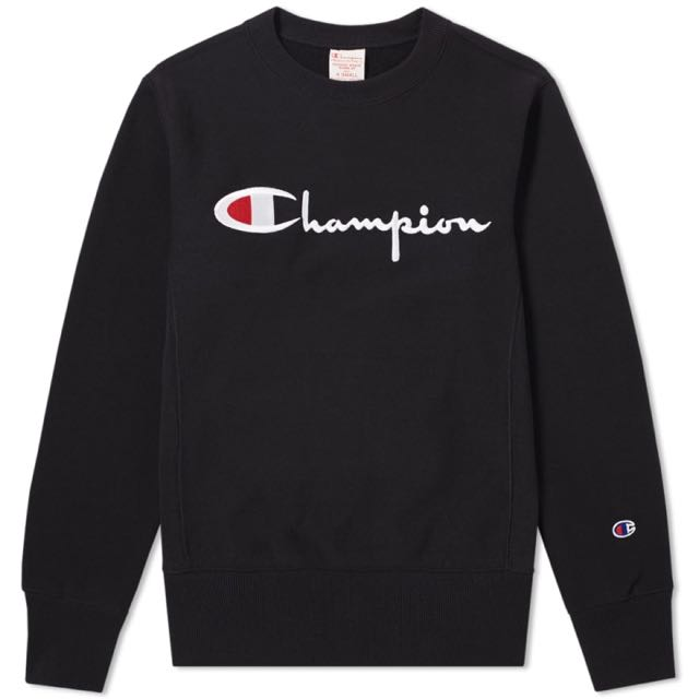 Champion Reverse Weave Warm Up Sweatshirt Black, L