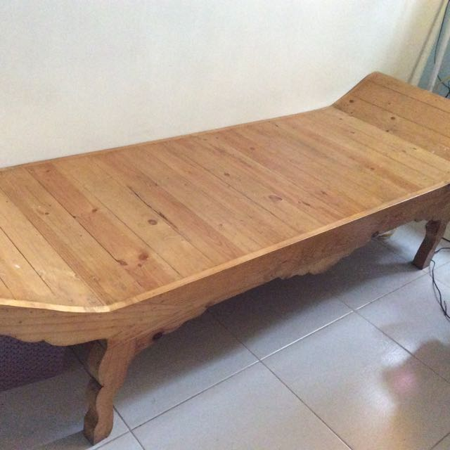 Cleopatra Design Solid Pine Wood Bench, Home U0026 Furniture On Carousell