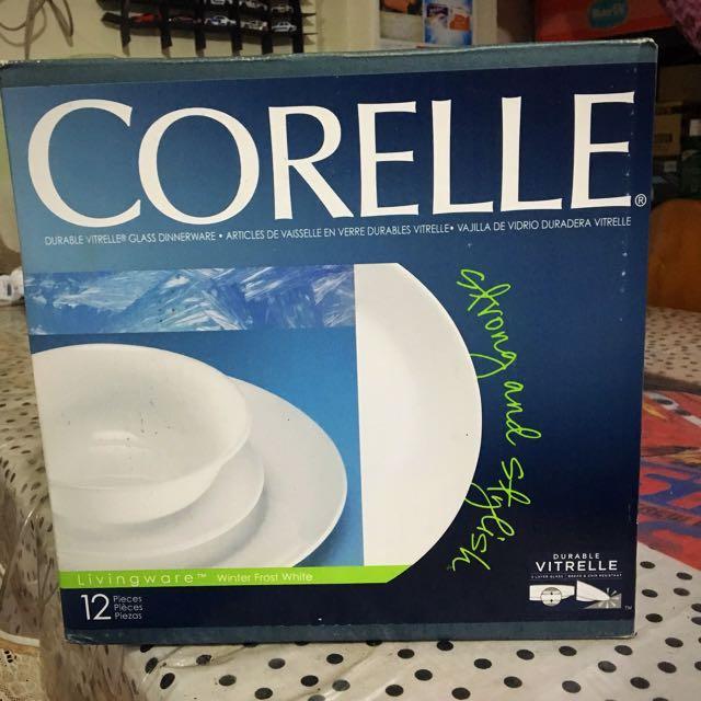 Corelle 12 pc Plate Set