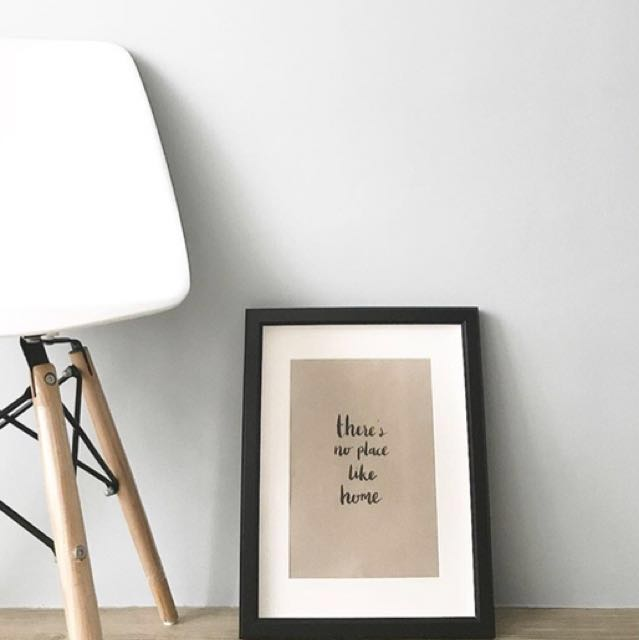 Customized Quotes in Frames, Design & Craft, Artwork on Carousell