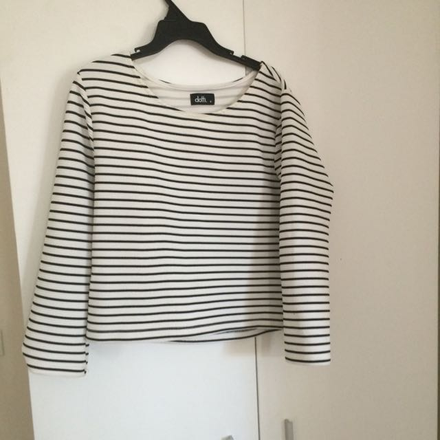 Dotti Cropped Long Sleeved Top