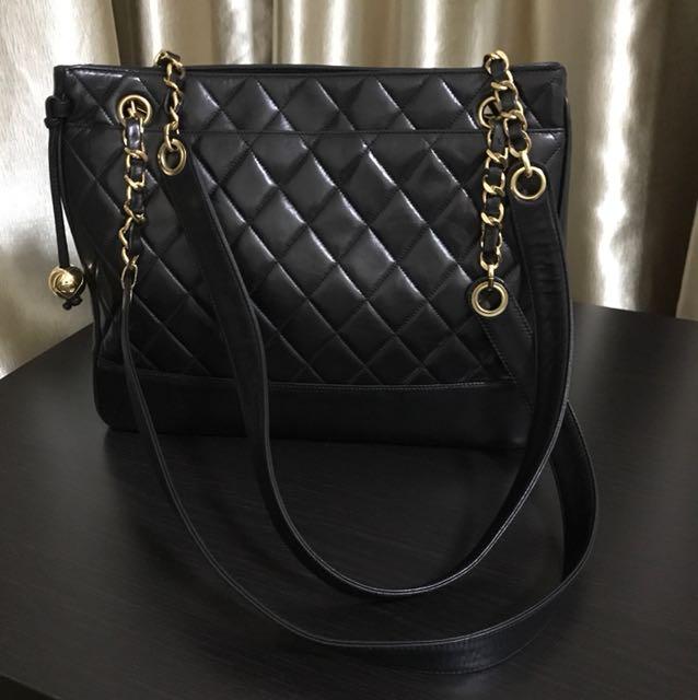 🔥Fire Sale 🔥 Chanel Lambskin Black Tote Bag