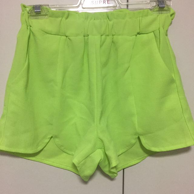 Fluro green shorts