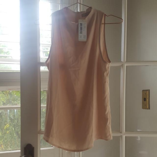 Forcast Size 8 Peach Nude Tan Top Workwear