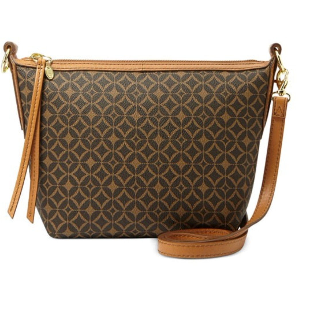 Fossil Signature Printed Crossbody Bag (KF)