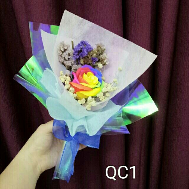FREE DELIVERY to WM only / Ready stock* Soap rainbow flower bouquet ...