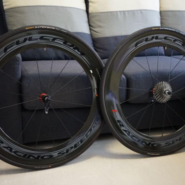 Fulcrum Racing Speed Xlr 80mm Tubular Road Wheelset Carbon Dark Label Bicycles Pmds Bicycles On Carousell