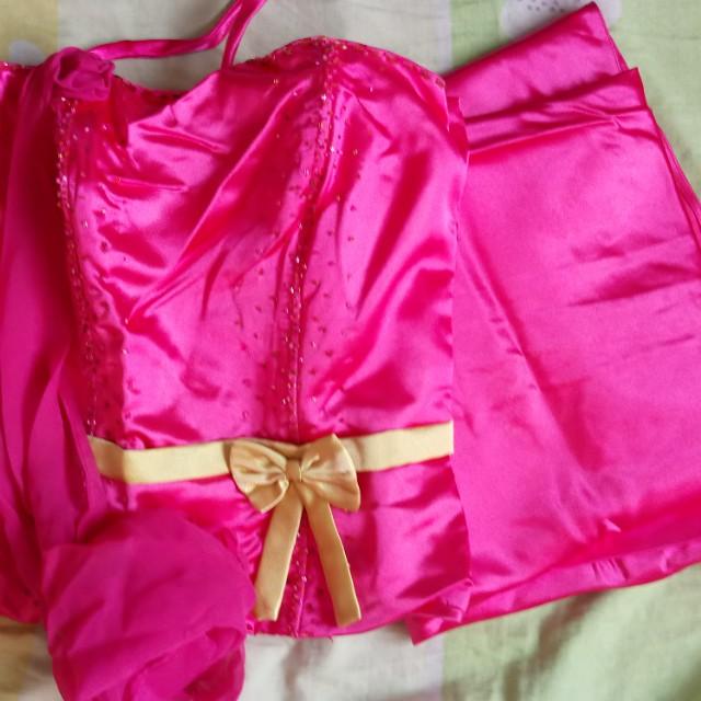 Fushia pink dress