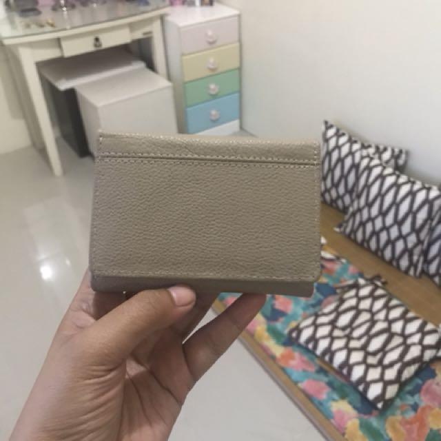 Genuine Leather Tri-Fold Wallet