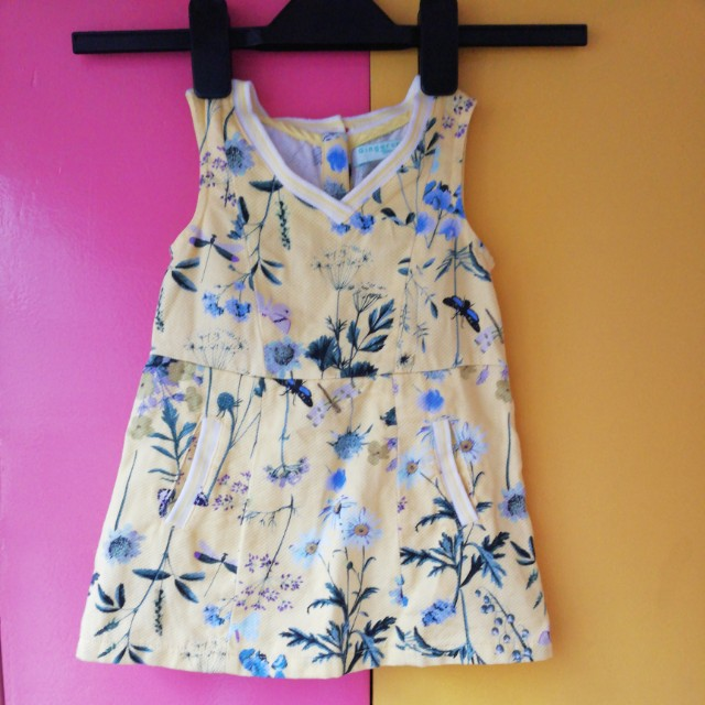 GINGERSNAPS TINY - Yellow Floral Dress