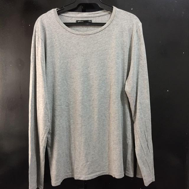Gray Plain Long Sleeves XL