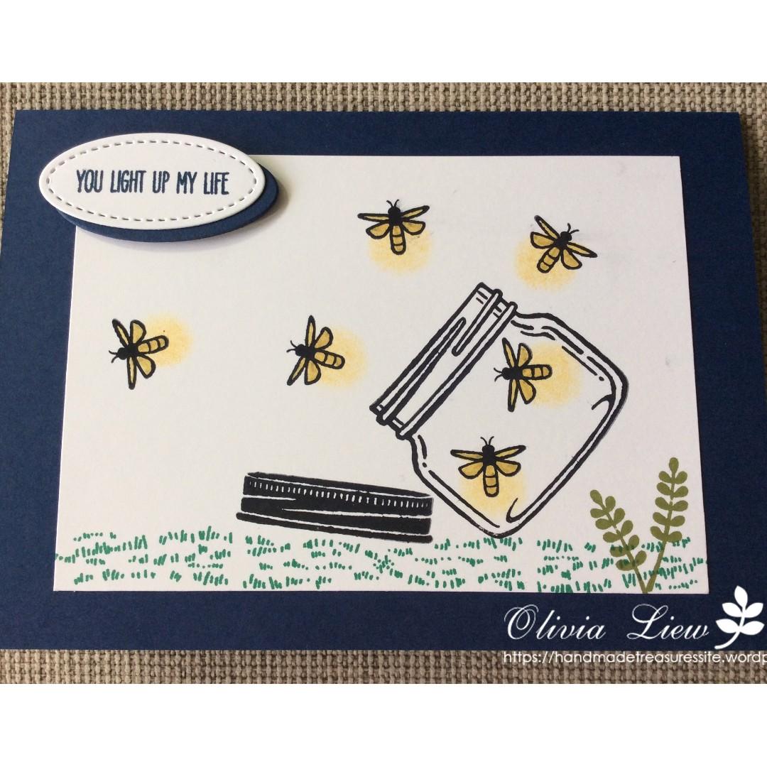 Handmade Anniversary Card - You Light Up My Life
