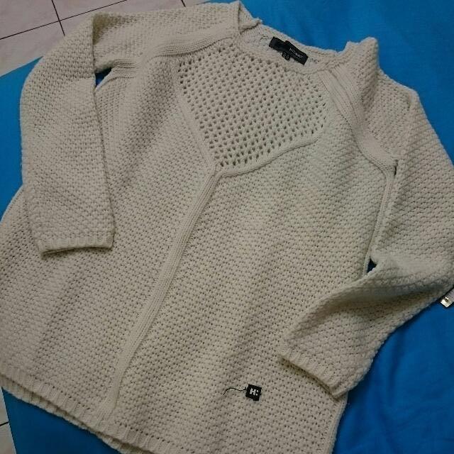 秋降價/H:CONNECT白色毛衣
