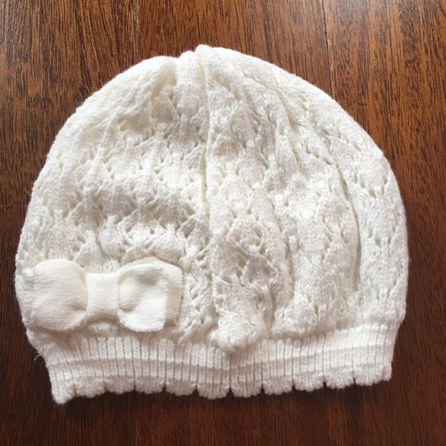 H&M baby girl knit hat 1-2thn