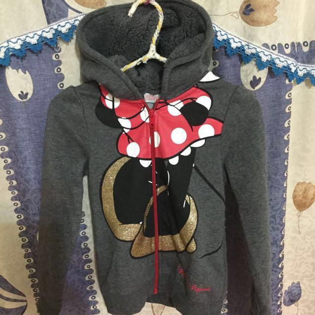 H&M 迪士尼Disney米妮連帽刷毛外套