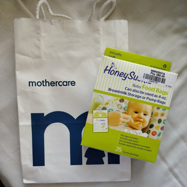 HoneySuckle Baby Food Bags/ Milk Bags