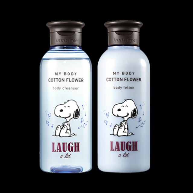 Innisfree snoppy body cleanser and body lotion