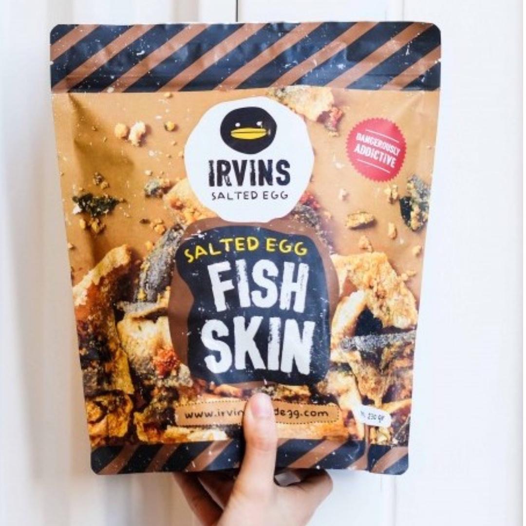 Irvins salted egg Fish Skin small 105gr
