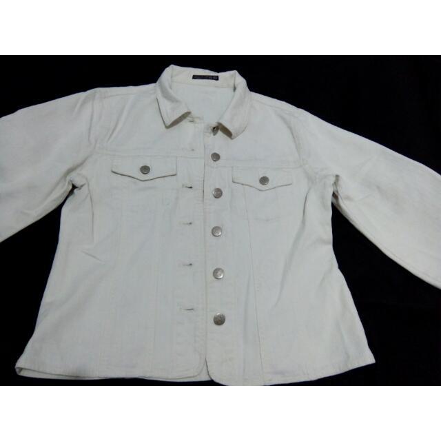 jaket jeans broken white