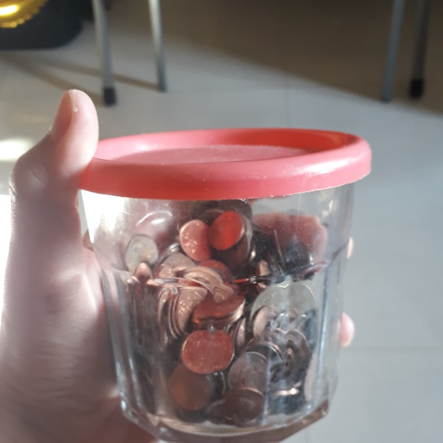 Jar Of Old Coins 1cent And Other Countries Vintage Collectibles Currency On Carousell