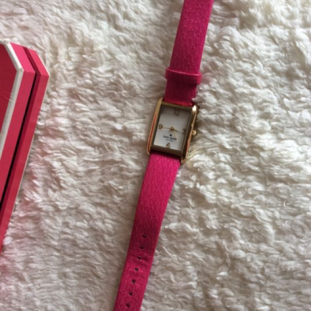 KATE SPADE (In a New York Minute) Gold/Pink Leatherband Ladies Watch