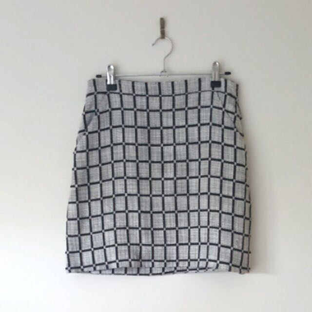 Kookai Checked Skirt