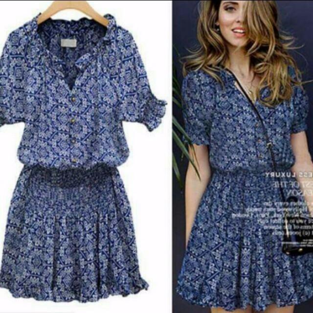 Korean blue dress
