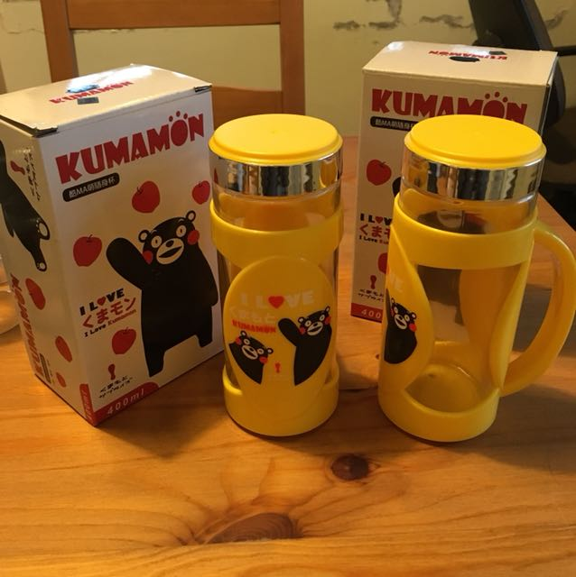 KUMAMON玻璃隨身杯