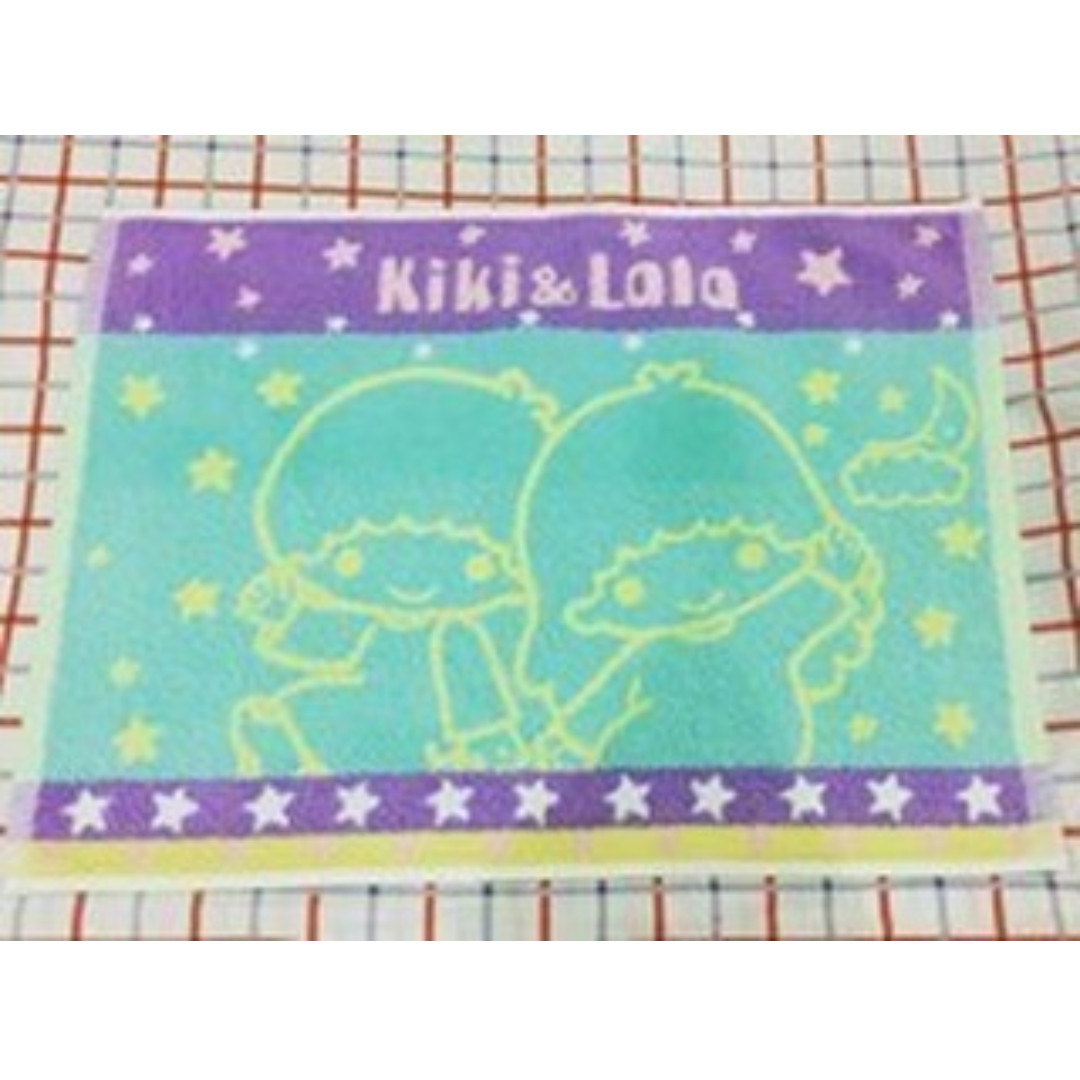Little twin stars towel material floor mat