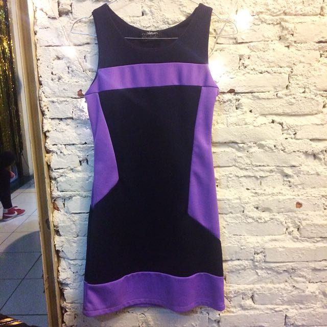 Local Brand Purple Black Dress