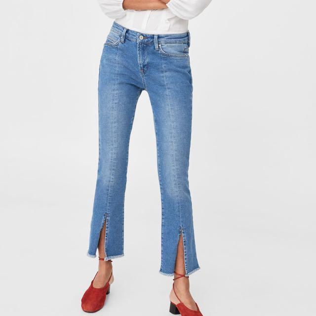 Mango Slit Jeans