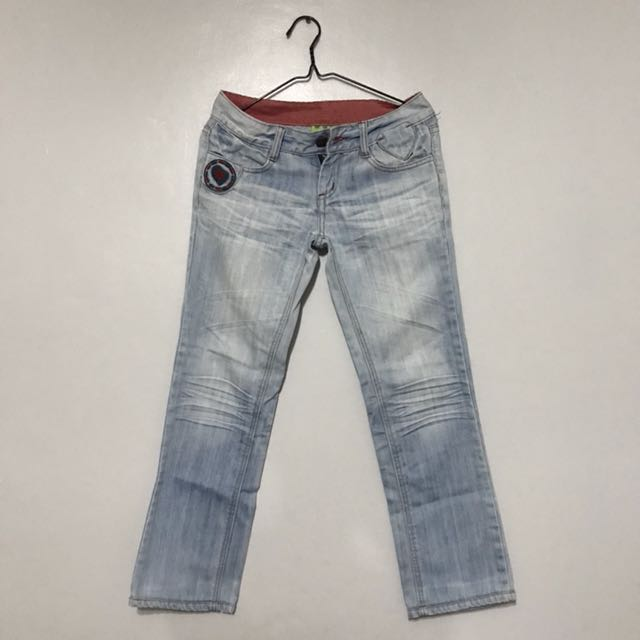 maong pants with patched