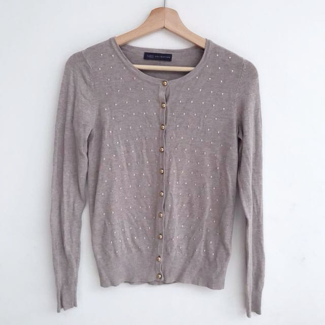Marks and Spencer beads cream cardigan