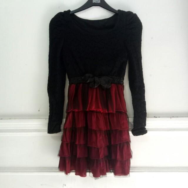 Mini Dress brukat impor