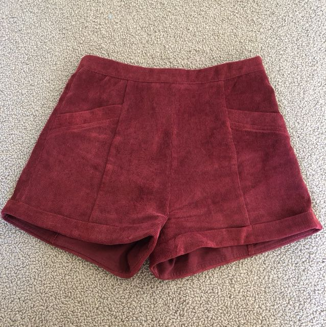 MinkPink cord shorts