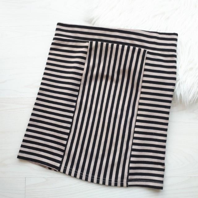 Minkpink stripes mini skirt / rok pendek span pencil
