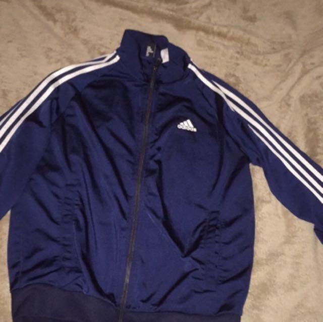 Navy Blue Adidas Zip Up