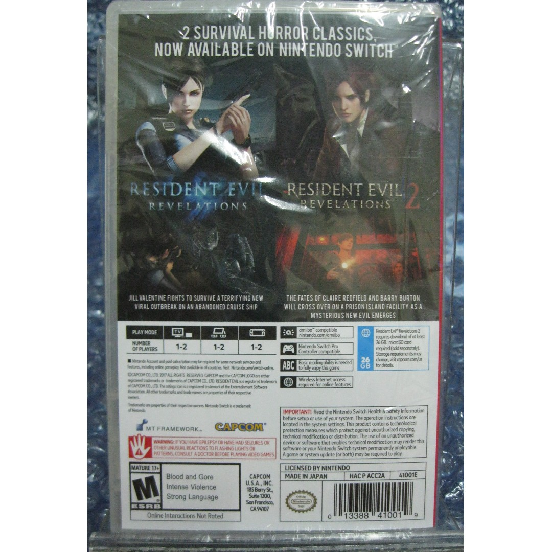 New Sealed Nintendo Switch Ns Resident Evil Revelations Revelation English Us Games Collection Permainan Video Di Carousell