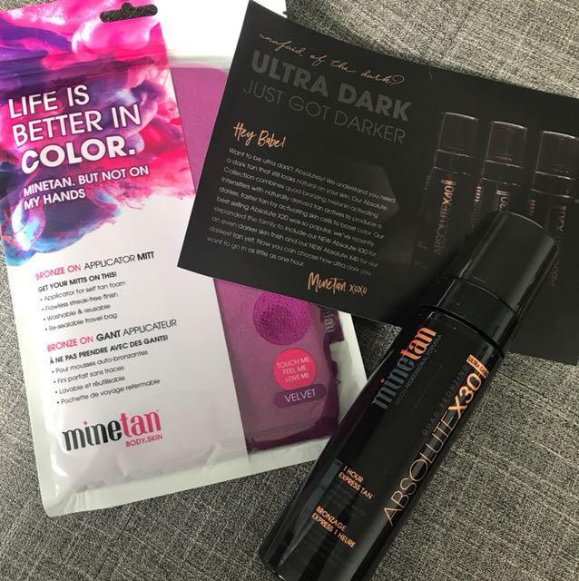 NEW MineTan Ultra Dark + Mitt