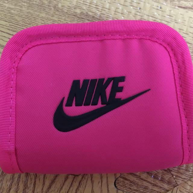 正品Nike螢光粉零錢包/可放卡 全新