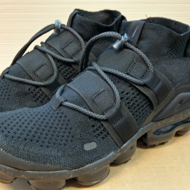 online retailer 6261e 57af5 Nike Air VaporMax Flyknit Utility Triple Black, Men's ...