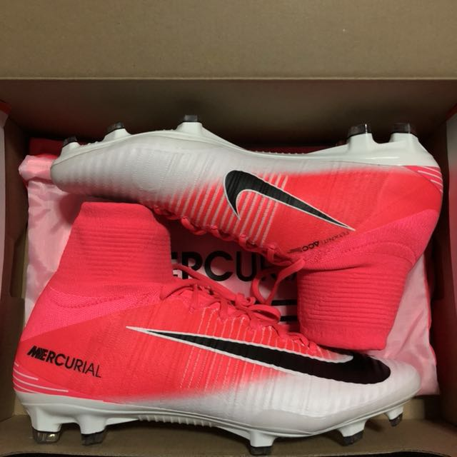 c328fb4738ab Nike Mercurial Superfly V FG Pink White, Sports, Sports & Games Equipment  on Carousell