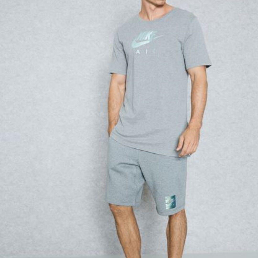 Nike 灰色/短T/前短後長/LOGO/內搭