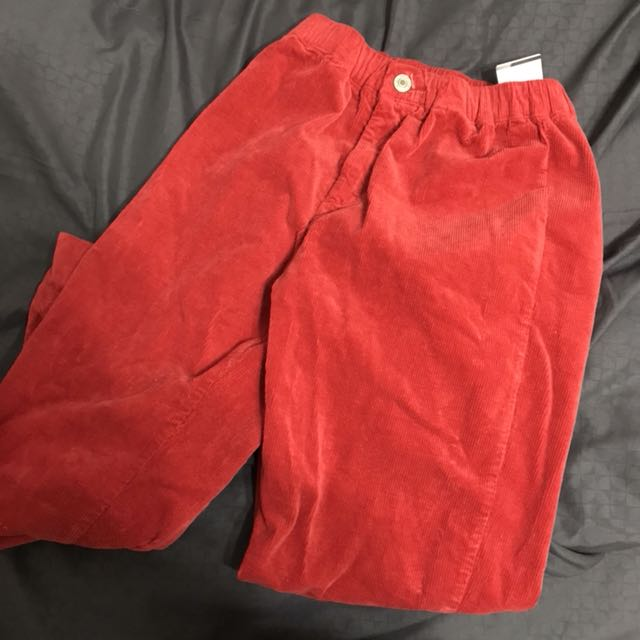 38b21a7af5ed NWT Brandy Melville red autumn corduroy Pants