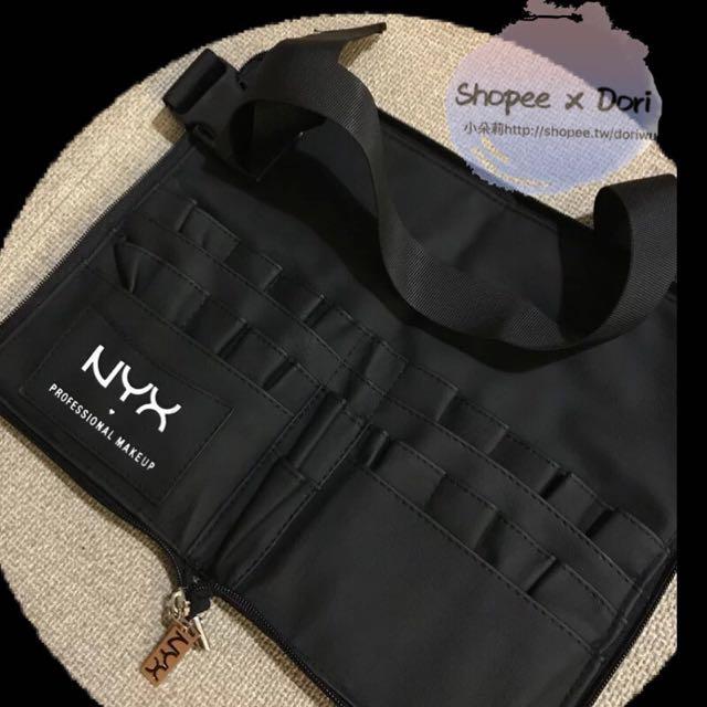 美國NYX攜帶式 專業刷具包 真皮手感 拉鍊 刷具腰包
