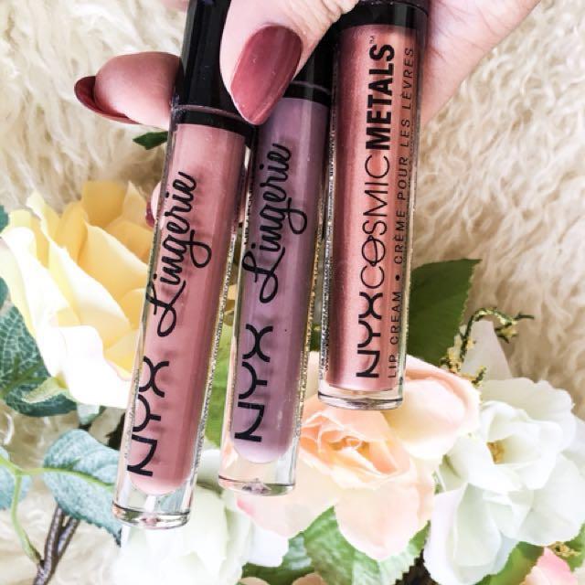 NYX Cosmetics Lingerie and Cosmic Metallic